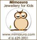 Mimosura Jewellery for Kids www.mimosura.com - 416 629-3901