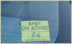 Baby On Board sign - Safety for children signs.