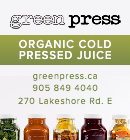 Green Press - organic cold pressed juice in Oakville