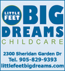 Little Feet Big Dreams in Oakville