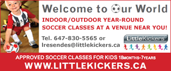 Little Kickers - indoor and outdoor year  round soccer classes in Oakville, Burlington, Mississauga & Milton