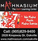 Expert Math Tutors in Oakville. We only tutor math and specialize in Grades 2-12. Using the time-tested, proprietary Mathnasium Method�, that complements and supports the regular academic studies of students.