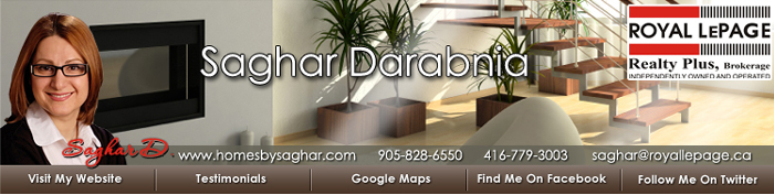 Saghar Darabnia - Royal LePage Realty Plus - Oakville Real Estate Agent